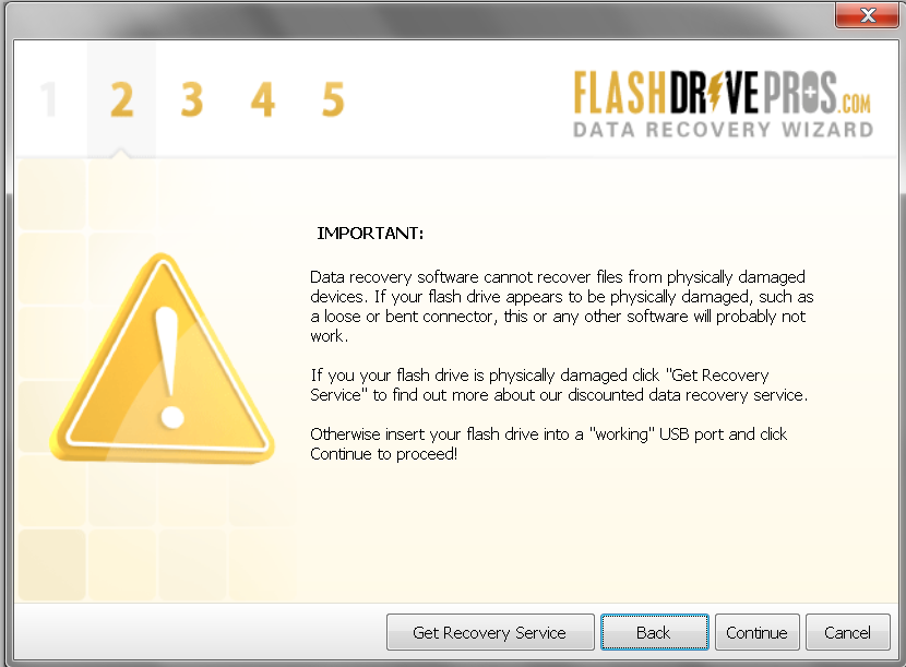 Flash Drive Data Recovery Wizard – Step 2