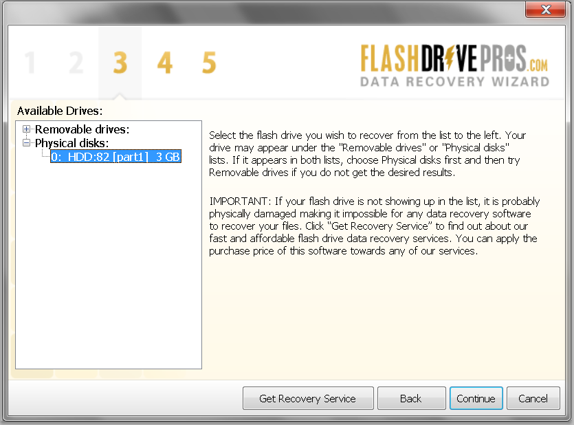 Flash Drive Data Recovery Wizard – Step 3
