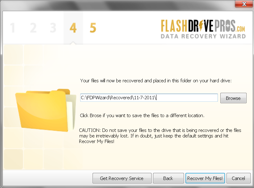 Flash Drive Data Recovery Wizard – Step 4