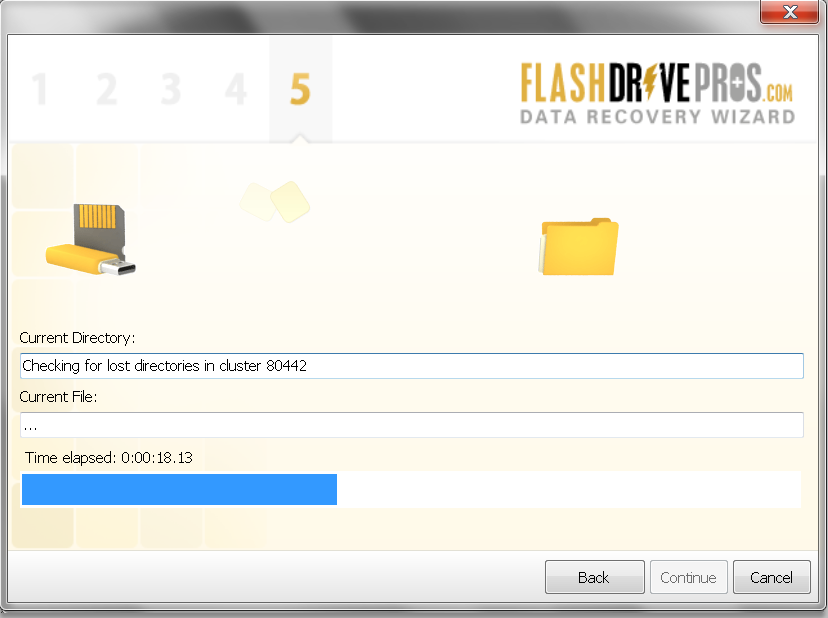 Flash Drive Data Recovery Wizard – Step 5